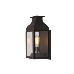 0276 Wall Lantern Weathered Brass, Clear Glass | Lampade parete | Original BTC