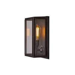 7641 Box Wall Light, External Glass, Small, Weather Brass, Clear | Wall lights | Original BTC