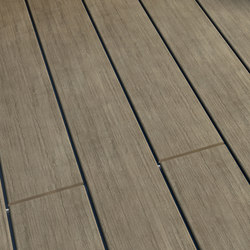Atmosphere | Brushed Decking board - Cayenne Grey | Pavimenti | Silvadec