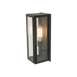 7649 Narrow Box Wall Light, Ext Glass, Weathered Brass, Clear | Wall lights | Original BTC