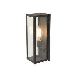 7650 Narrow Box Wall Light, Internally Glass, Weathered Brass, Clear | Lampade parete | Original BTC