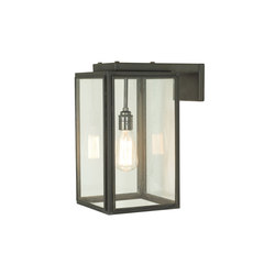 7656 Small Portico Wall Light Weathered Brass, Clear Glass | Wall lights | Original BTC