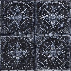 Broderie Noir Argent | Chapas | Artstone