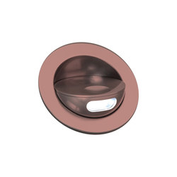 Sirocco II Light with Integral Bezel, anodised bronze | Lampade parete incasso | Original BTC