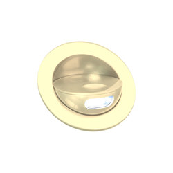 Sirocco II Light with Integral Bezel, gold plated | Recessed wall lights | Original BTC
