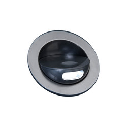 Sirocco II Light with Integral Bezel, anodised titanium | Recessed wall lights | Original BTC