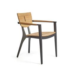 DIUNA Armchair aluminium/teak | Sedie | Oasiq
