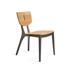 DIUNA chair aluminium/teak | Chairs | Oasiq