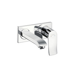 hansgrohe Metris Single lever basin mixer LowFlow 3.5 l/min for concealed installation with spout 165 mm wall-mounted | Wash basin taps | Hansgrohe
