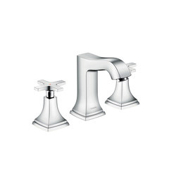 hansgrohe Metropol Classic 3-hole basin mixer 110 with cross handle, with pop-up waste set | Wash-basin taps | Hansgrohe