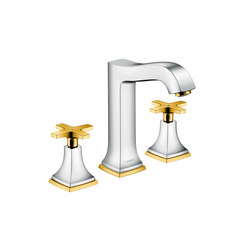 hansgrohe Metropol Classic 3-hole basin mixer 160 with cross handle, with pop-up waste set   Wash basin taps   Hansgrohe
