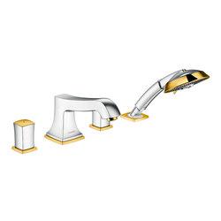 hansgrohe Metropol Classic 4-hole rim mounted bath mixer with zero handle | Wash basin taps | Hansgrohe