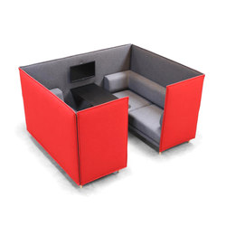 Private High Back 2 Seater Box Set | Lluvia de ideas / reuniones cortas | ICONS OF DENMARK