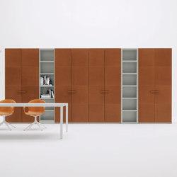 SpazioLab Hinged Ala Cuoio | Cabinets | Silenia