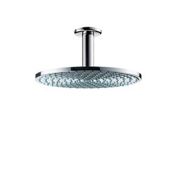 hansgrohe Raindance S 240 Air 1jet overhead shower with ceiling connector 100 mm | Shower taps / mixers | Hansgrohe