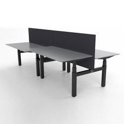 Flow Bench Desk | Systèmes de tables de bureau | Cube Design