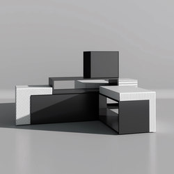 Designer sideboard with flap Masterbox® 2,5OH | Sideboards | Inwerk