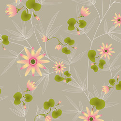 flora & fauna | aqua lilium | Wall art / Murals | N.O.W. Edizioni