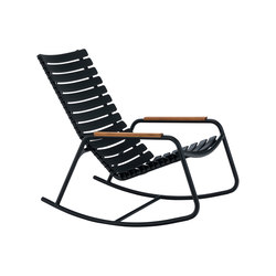 CLIPS | Rocking chair with bamboo armrests | Gartensessel | HOUE