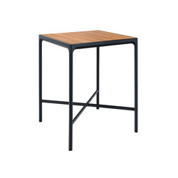 FOUR | Bar table 90x90 Black frame | Tavoli alti | HOUE