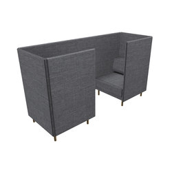 Private High Back 1 Seater Box Set | Lluvia de ideas / reuniones cortas | ICONS OF DENMARK