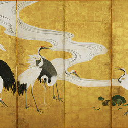 Gold crane | Wall coverings / wallpapers | WallPepper