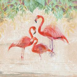 Flamingos party | Wandbeläge / Tapeten | WallPepper