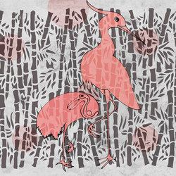 Herons with bamboo | Carta parati / tappezzeria | WallPepper