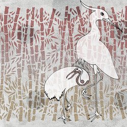 HERONS WITH BAMBOO | Wall coverings / wallpapers | WallPepper