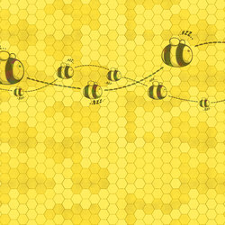 Honey to the bee | Revestimientos de paredes / papeles pintados | WallPepper