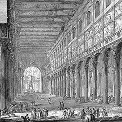 Spaccato interno della Basilica di S. Paolo fuori delle mura | Carta da parati / carta da parati | WallPepper