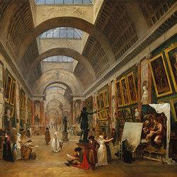 Veduta della Grande Galerie del Louvre | Carta da parati / carta da parati | WallPepper