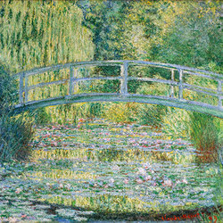 Bassin aux nympheas | harmonie verte | Carta da parati / carta da parati | WallPepper