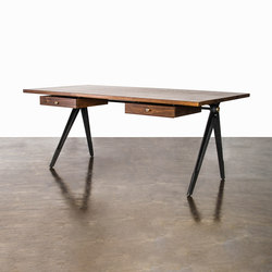 COMPASS DESK DOUBLE DRAWER | Bureaux | District Eight
