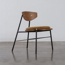 Kink dining chair leather cushion | Sillas | District Eight