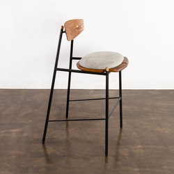Kink bar stool fabric cushion | Taburetes de bar | District Eight