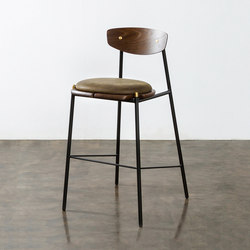 Kink bar stool leather cushion | Bar stools | District Eight