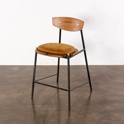 Kink counter stool leather cushion | Taburetes de bar | District Eight
