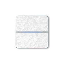 Enzo switch - white leather - 2-way | KNX-Systems | Basalte