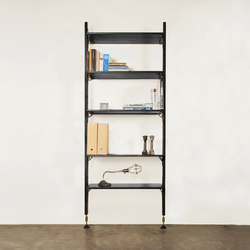 Theo wall unit with medium shelves | Office shelving systems | District Eight