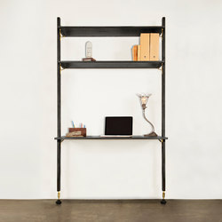 Theo wall unit with desk | Office shelving systems | District Eight