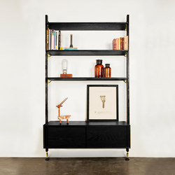 Theo wall unit with large shelves | Office shelving systems | District Eight