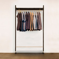 THEO WALL UNIT CLOTHING RAIL | Percheros | District Eight