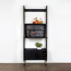 Theo wall unit with bar | Systèmes d'étagères | District Eight