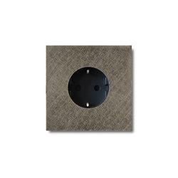 Power outlet - fer forgé grey - 1-gang | Schuko sockets | Basalte