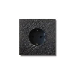 Power outlet - fer forgé gunmetal - 1-gang | Schuko sockets | Basalte