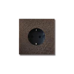 Power outlet - fer forgé bronze - 1-gang | Schuko sockets | Basalte