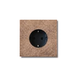 Power outlet - fer forgé rosé - 1-gang | Schuko sockets | Basalte