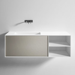 Integrated washbasin top with drawer | Vanity units | Rexa Design