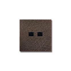 RJ45 outlet - Fer Forgé Bronze | Ethernet ports | Basalte